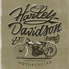 Harley Davidson Tee iIlustrationsAlex Ramon Mas Studio