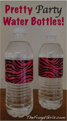 Duct Tape Party Water Bottles {from drab to fab!} ~ from TheFrugalGirls.com #party #water #bottles