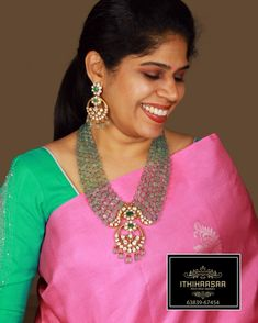 Pearl Necklace Designs, Jewelry Design Earrings, Gold Jewellery Design, Beaded Jewelry Designs, Ruby Jewelry, Bead Jewellery, Diamond Jewellery, Gems Jewelry, Gemstone Jewelry