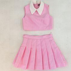 Collar & pleated skirt ♡