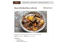 Google Chrome Food App Chrome Apps, Health App, Simply Recipes, Google Chrome, Short Ribs, Better Life, Stew, The Help, Healthy Eating