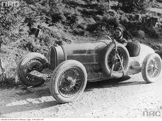 Stanisław Hołuj in his Bugatti. 4. Interenational Tatra Race, Tatra Mountains, 1931.
