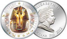 Fidschi 1 Dollar 2012, 999er Silber, 20 Gramm, Ø 40mm, mit Goldauftrag und Farbapplikation