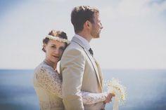 Coastal Cornish Wedding: Betty & Johnny | Photos by Dot and Lucy Photography (via rocknrollbride.com) #inspiration