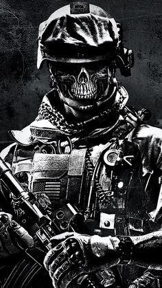 This wallpaper is shared to you via ZEDGE Military Drawings, Military Tattoos, Army Wallpaper, Skull Wallpaper, Ghost Soldiers, Totenkopf Tattoos, Military Special Forces, Skull Artwork, Gaming Wallpapers