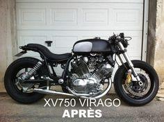 XV 750 Virago after transformation cafe racer