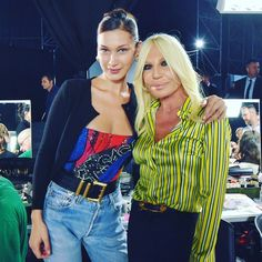 Bella backstage at Versace Donatella Versace, Gianni Versace, Ciara Dance, Gal Pal, Celebs, Celebrities, Bella Hadid, Girl Crushes, Everyday Fashion