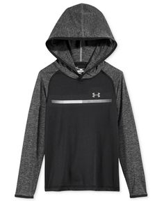Under Armour helps keep him dry and comfortable on and off the field with the sporty style of this Tech Prototype Hoodie, featuring a cool colorblocked design and raglan sleeves. | Polyester | Machine