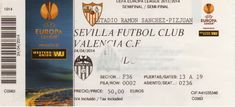 Sevilla-Valencia 13-14 (Europa League) Valencia, Boarding Pass, Travel, Breakfast Nook, Viajes, Traveling, Tourism, Outdoor Travel