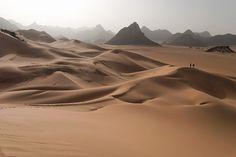 Sand Dunes and Rock Mountains, Tenere Desert (Southern Sahara Desert), Niger, Africa