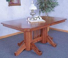 Double Unturned Mission Pedestal table..
