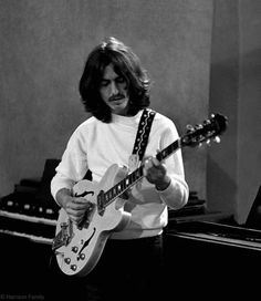 George Harrison in the studio, 1969