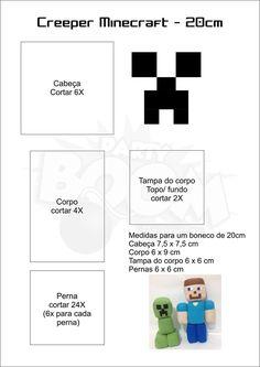 Boneco Minecraft com molde