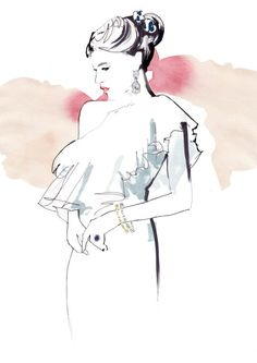 Watercolour fashion illustration // Francesca Waddell