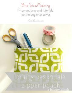 DIY Tutorial DIY Sewing / DIY Sewing Zipper Card Pouch Free Pattern - Bead&Cord