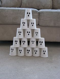 Making Merry Memories: Ghost Cups Bowling