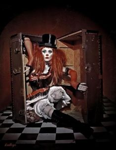 Image result for vintage circus hair