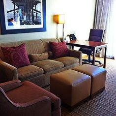 Get comfortable in your very own living room in our all-suite hotel! #homeawayfromhome