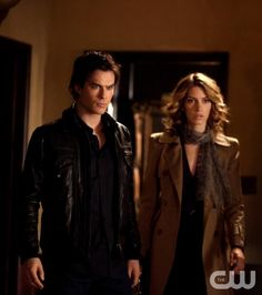 """Klaus"" - Ian Somerhalder as Damon Salvatore and Dawn Olivieri as Andie in THE VAMPIRE DIARIES on The CW. Photo: Bob Mahoney/The CW ©2011 The CW Network, LLC. All Rights Reserved."