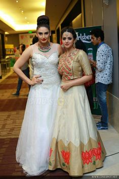 Film stars at IFK 2016 (142) Indian Dresses, Indian Outfits, Western Outfits, Lehenga Top, Anarkali, Frocks And Gowns, Choli Dress, Western Gown, Pakistani Wedding Outfits