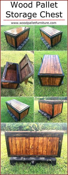 Wood Pallet Storage Chest: A storage chest made out of wooden pallet is something that you might enjoy making because it is very interesting and is the best