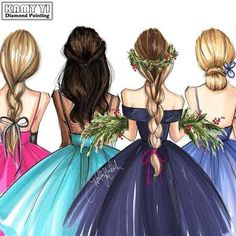 Drawing Of Girls Friends Bff Best Friend Drawings, Girly Drawings, Art Drawings Sketches, Bff Pics, Friend Pictures, 4 Best Friends, Best Friends Forever, Friends Sketch, Sarra Art