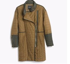 NWT Madewell  J. Crew Women quilted coat  olive item b7376 M $169 #Madewell #quiltedcoat