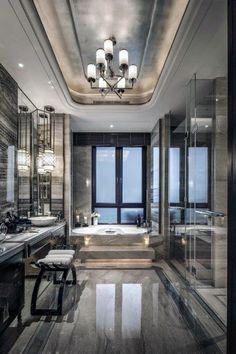 Top 60 Best Master Bathroom Ideas - Home Interior Designs - Ultra Modern Master.,Top 60 Be. , , Top 60 Best Master Bathroom Ideas - Home Interior Designs - Ultra Modern Master. Modern Master Bathroom, Modern Bathroom Design, Bathroom Interior Design, Modern House Design, Bathroom Designs, Bathroom Gray, Bathroom Marble, Master Baths, Bathroom Wall