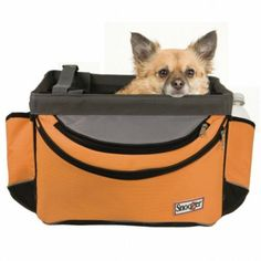 Snoozer Pet Dog Sporty Bicycle Bike Basket Carrier Orange. Includes removable rain covery Easy installation.