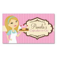 Blonde Baker Cupcake Business Cards D12