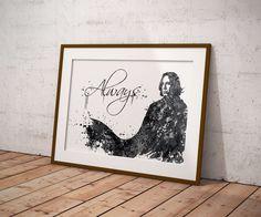 Severus Snape Always Watercolor2 Art Print Harry Potter Fan Art Wall Decor Art 1
