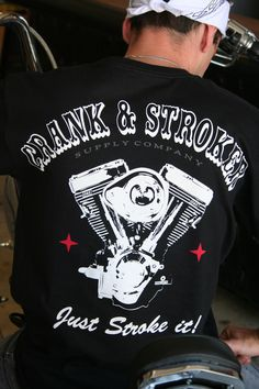 All Motor Biker T Shirt Crank  amp  Stroker Denim Motorcycle Jacket 6f7beb0877