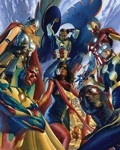 All New Avengers Alex Ross #captainamericacivilwar #marvelcomics #Comics #comicbooks #avengers #marvel #captainamerica #ironman #thor #hulk #hawkeye #blackwidow #spiderman #vision #scarletwitch #civilwar #spiderman #infinitygauntlet #blackpanther #guardiansofthegalaxy #deadpool #wolverine #daredevil #xmenapocalypse #xmen #cyclops #magneto #psylocke #silversurfer #galactus http://ift.tt/1TRqZqd