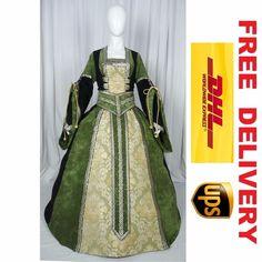 MEDIEVAL RENAISSANCE TUDOR WEDDING HANDFASTING LARP GOWN DRESS COSTUME (19H)    eBay