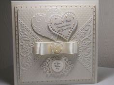 "8""x8"" WEDDING DAY ,ANNIVERSARY, ENGAGEMENT CARD WITH BOX"