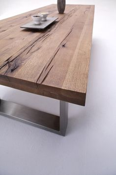 Instant Access To Woodworking Designs, DIY Patterns & Crafts Timber Furniture, Living Furniture, Unique Furniture, Diy Furniture, Furniture Design, Cool Coffee Tables, Wood Slab, Modern Table, Wooden Tables
