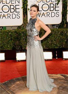 Mila Kunis in Gucci Première  - Golden Globe 2014