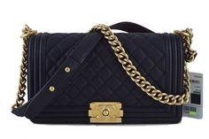 2b63193253ca5 17C Chanel Black Caviar Le Boy Classic Flap GHW Medium Bag Chanel Le Boy