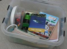 Make a busy box to take around.