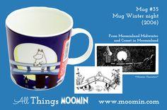 Moomin mug Winter night by Arabia - Moomin Moomin Mugs, Tove Jansson, Making Tools, Winter Night, Finland, Tea Pots, Childhood, Tableware, Online Tests