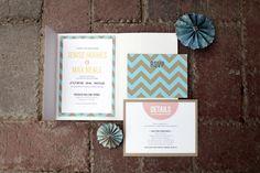 chevron wedding invitations shot by Laura Murray