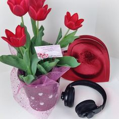 We love an early Valentine's Day! Flowers, Chocolates, AND Omni Bluetooth Headphones!