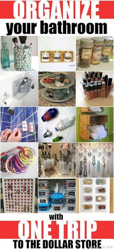 ORGANIZE YOUR BATHROOM WITH ONE TRIP TO THE DOLLAR STORE | Pinterest Goodies