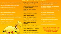 Anime Drawing Challenge | 30 Day Pokemon Drawing Challenge by Miahii
