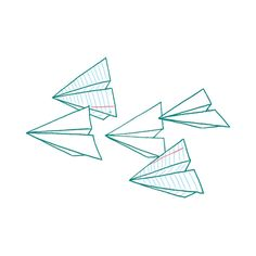 Paper planes temporary tattoos. This website has some awesome and fun temporary tats, including these, that would be cool as permanent pieces of body art.