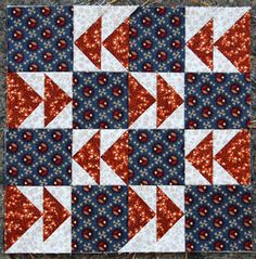 "Travels    Block from the book ""The Civil War Love Letter Quilt."