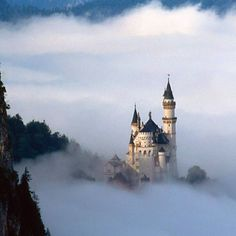 Neuschwanstein Castle in Germany, which Disney based Sleeping Beauty's Castle on.