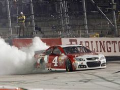 Kevin Harvick grabs his second win, this time from the pole position. #NASCAR