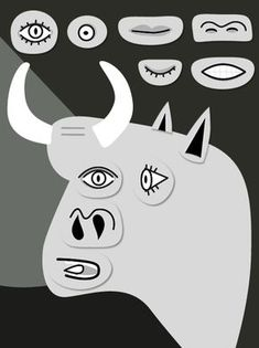 Picasso: Bull - a kids activity Pablo Picasso, Picasso Guernica, Picasso Art, Artists For Kids, Art For Kids, Picasso Style, Montage Photo, School Art Projects, Art Lessons Elementary