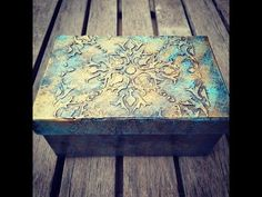 Joanne Archambault shared a video Diy Crafts To Do, Glue Crafts, Easy Crafts, Decorative Tile, Decorative Boxes, Clay Stamps, Texture Art, Box Art, Chalk Paint